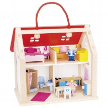 Suitcase Doll's house with accessories
