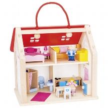 Koffer Puppenhaus mit Zubehör