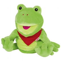 Hand puppet frog Frilo