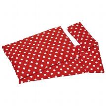 Bedding set for dolls, polka dots