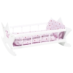 Doll's cradle with bedding