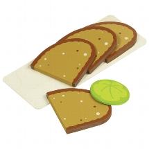 Sliced bread, 4 slices, 1 lettuce leaf
