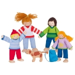 Flexible puppets camping familiy