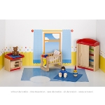 Furniture for flexible puppets, childrens room