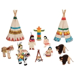 Flexible puppets, Indian camp