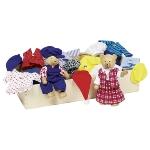 Flexible puppets - Bear dress-up box, Benna & Bennoh
