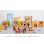 Furniture for flexible puppets, kitchen