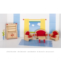 Furniture for flexible puppets, living room