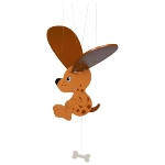 Dog, swinging animal
