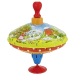 "Humming top with wooden handle ""Mother goose"""