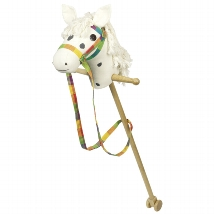 Hobby horse white with dark brown dots