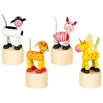 Animals, press 'n shake figures