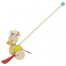 Punk-duck, push-along animal