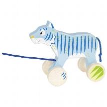 Pull-along animal tiger