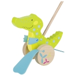Crocodile, push-along animal, Susibelle