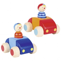 Vehicles with driver and horn