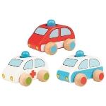 Fahrzeuge mit Hupe, Polizei, Feuerwehr und Krankenwagen