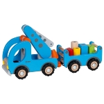 Mobile crane with trailer