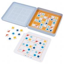 Sudoku 16,2 x 16,2 x 2,6 cm, 36 Magnete, 25 Vorlagekarten in