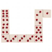 Domino game, ladybirds