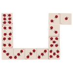 Domino game, ladybirds