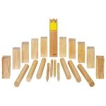 Wikingerspiel Kubb, Krone gelb, im Baumwollbeutel