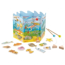 The environment fishing game, Peggy Diggledey