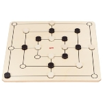 Draughts and nine men's morris game set
