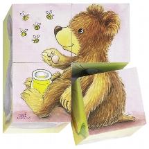 Baby animals, cube puzzle