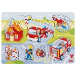 Firefighters in action, lift-out puzzle