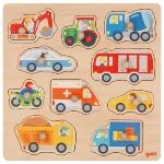 Background puzzle vehicles