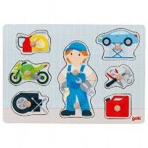 Lift-out puzzle mechanic