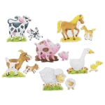 Puzzleset Bauernhoftiere