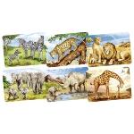 Minipuzzle Afrikanische Tiere