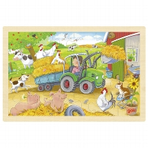 Puzzle small tractor