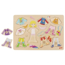 Puzzle, dress-up girl