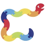 Floor puzzle snake