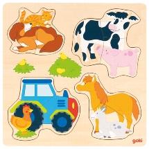 Farm animals , inlay puzzle