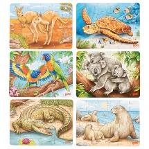 Minipuzzle Australische Tiere