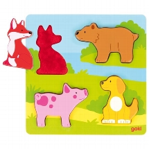 Puzzle tactile, animaux