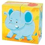 Wild animals, cube puzzle