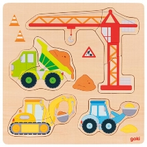Puzzle building site vehicles