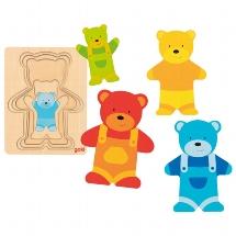 Schichtenpuzzle Bär