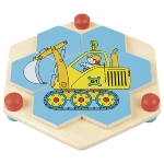 Hexagon puzzle - construction site