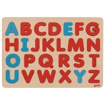 Alphabet puzzle in Montessori style, french