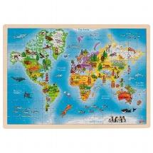 Einlegepuzzle Welt