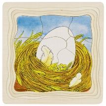 Schichtenpuzzle Das Huhn