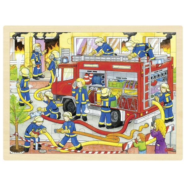 GOKI Gollnest /& Kiesel Einlegepuzzle Feuerwehreinsatz NEU