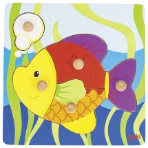 Lift-out puzzle fish