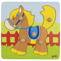 Lift-out puzzle horse